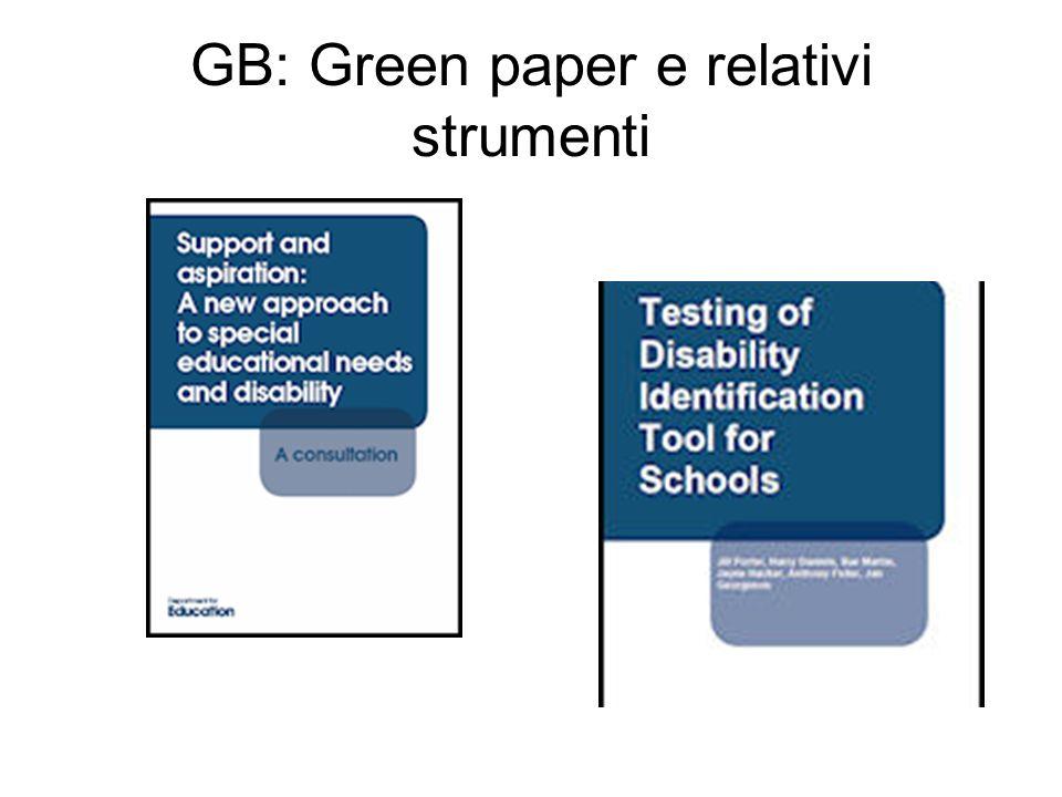 GB: Green paper e relativi strumenti