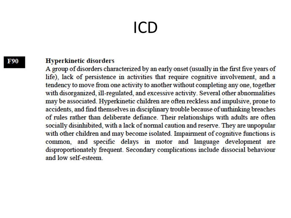 ICD, F90 e sottotipi