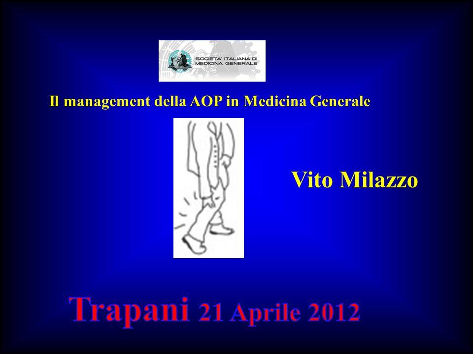 Il management della AOP in Medicina Generale Vito Milazzo
