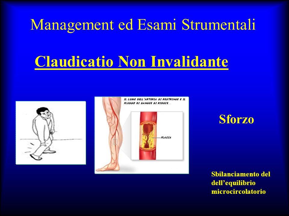 Management ed Esami Strumentali Claudicatio Non Invalidante Sforzo Sbilanciamento del dellequilibrio microcircolatorio