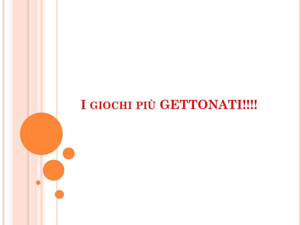 I GIOCHI PIÙ GETTONATI!!!!