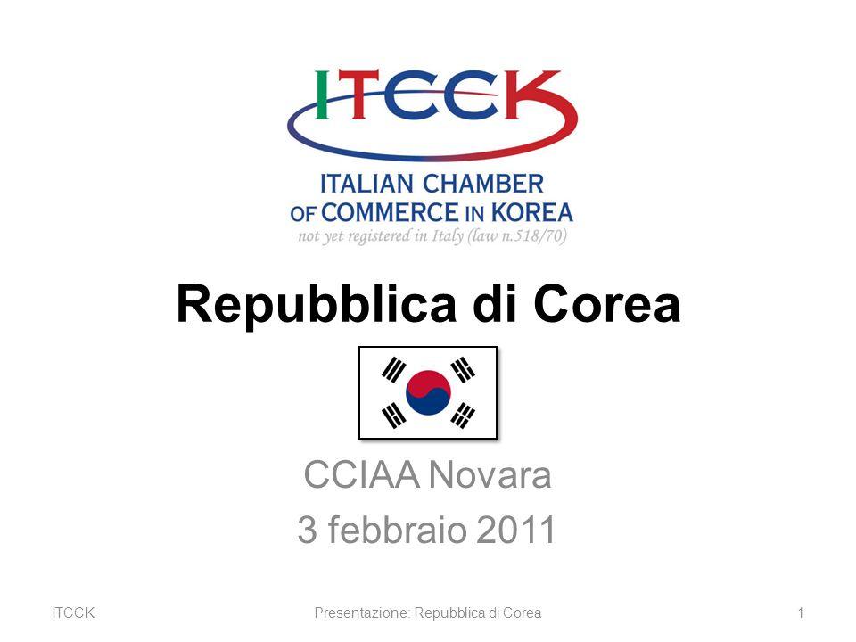 Repubblica di Corea CCIAA Novara 3 febbraio 2011 ITCCK1Presentazione: Repubblica di Corea