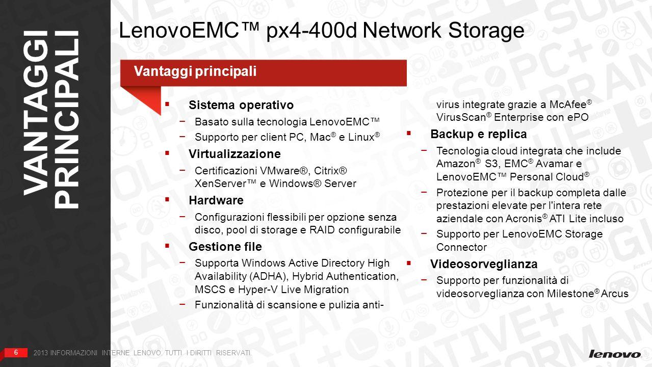 Logo, immagini e materiali marketing LenovoEMC px4-400d 2013 INFORMAZIONI INTERNE LENOVO.