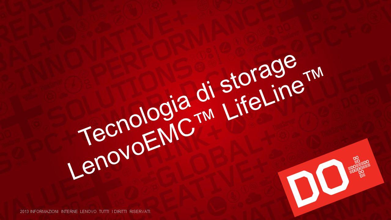 Tecnologia di storage LenovoEMC LifeLine 2013 INFORMAZIONI INTERNE LENOVO. TUTTI I DIRITTI RISERVATI.