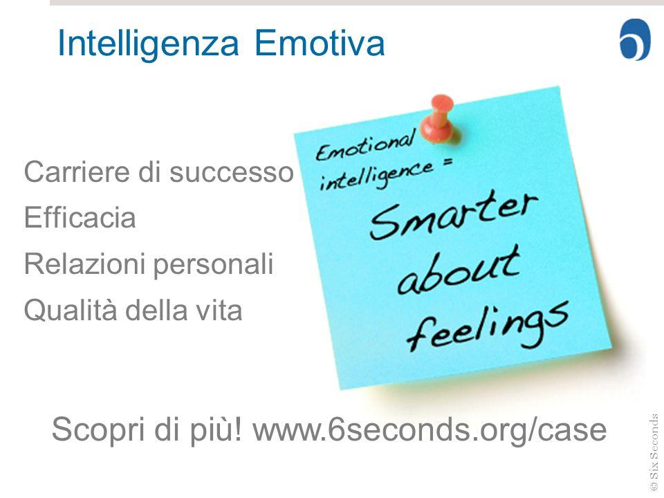 © Six Seconds Intelligenza Emotiva Carriere di successo Efficacia Relazioni personali Qualità della vita Scopri di più! www.6seconds.org/case