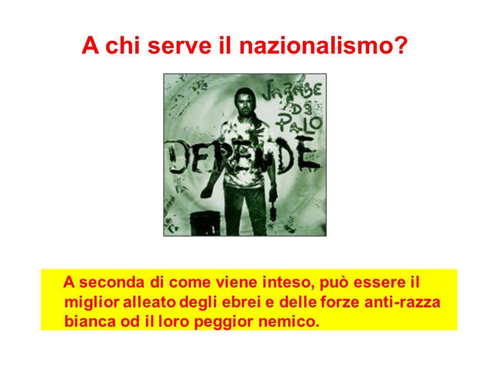 Nazionalismo amico degli ebrei Diritto di suolo, non diritto di sangue.