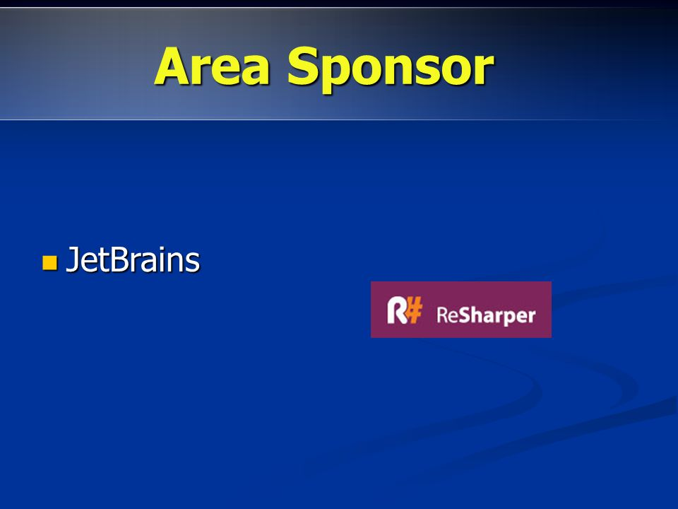 JetBrains JetBrains Area promozioni:http://dotnetmarche.org/forums/23/ShowForum.aspx Area Sponsor