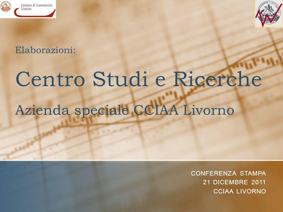 Elaborazioni: Centro Studi e Ricerche Azienda speciale CCIAA Livorno CONFERENZA STAMPA 21 DICEMBRE 2011 CCIAA LIVORNO