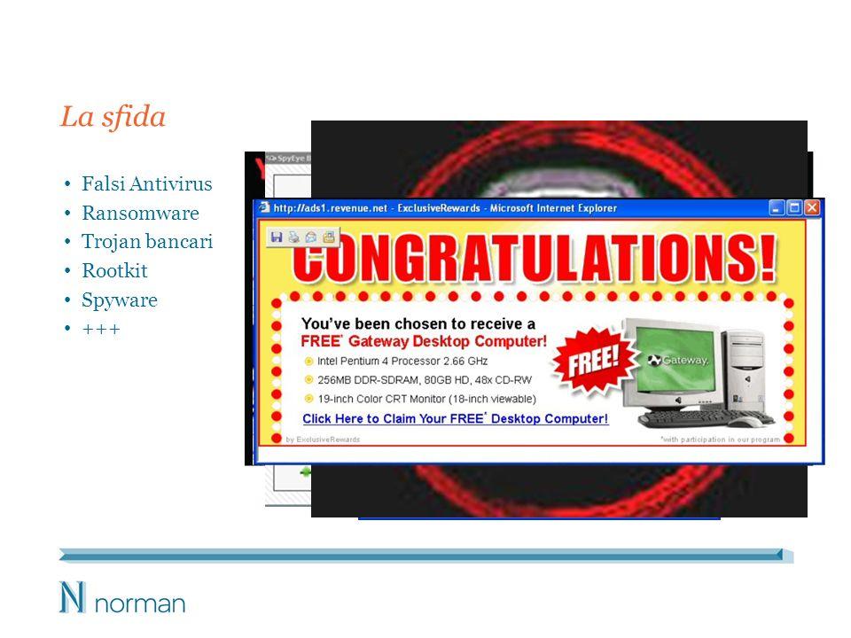 Falsi Antivirus Ransomware Trojan bancari Rootkit Spyware +++