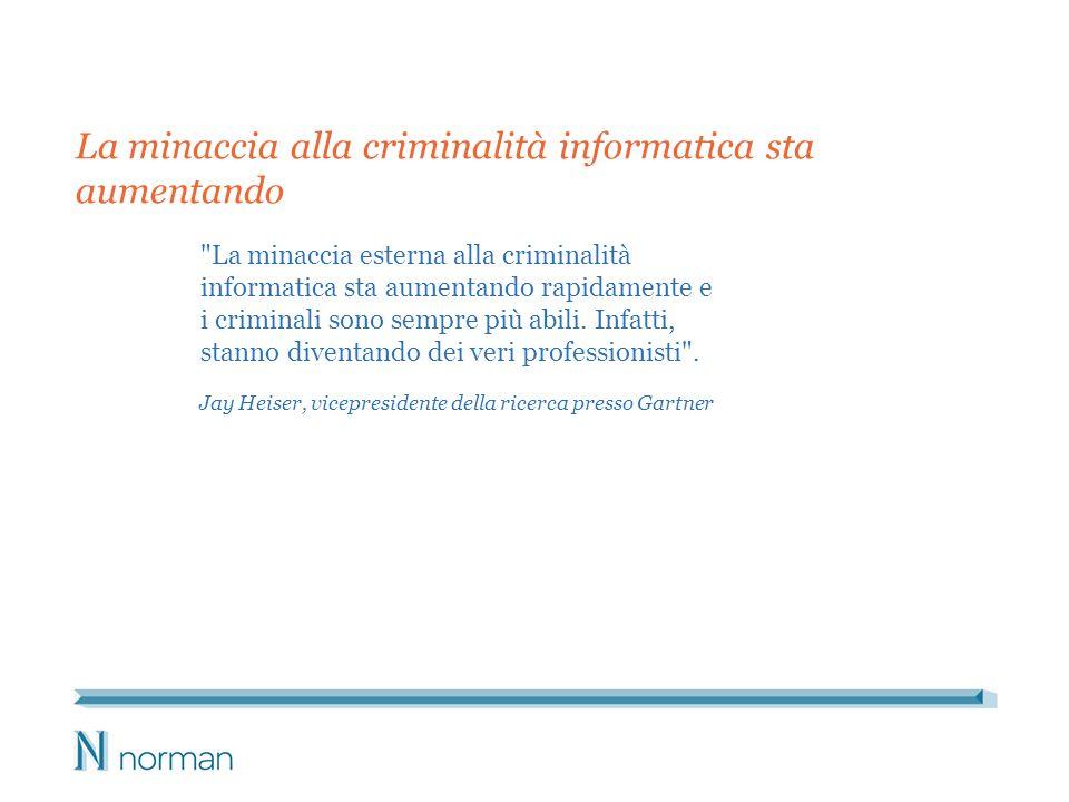 La minaccia esterna alla criminalità informatica sta aumentando rapidamente e i criminali sono sempre più abili.