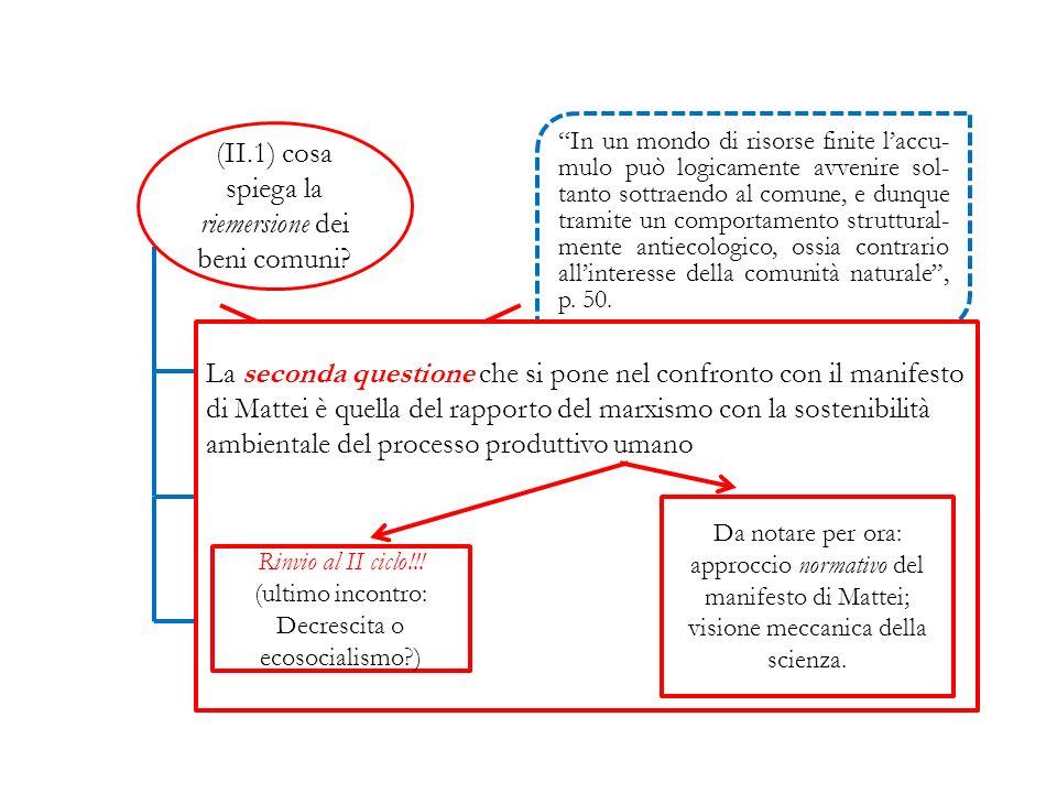 (II.1) cosa spiega la riemersione dei beni comuni.