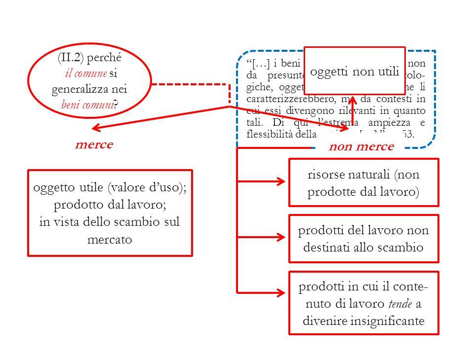 (II.2) perché il comune si generalizza nei beni comuni.