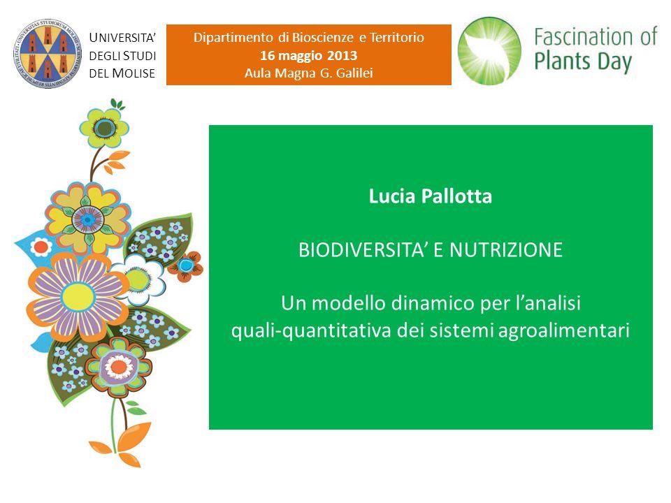 Il consumo Dipartimento di Bioscienze e Territorio - Dottorato di Ricerca in Ambiente e Territorio - XXV Ciclo