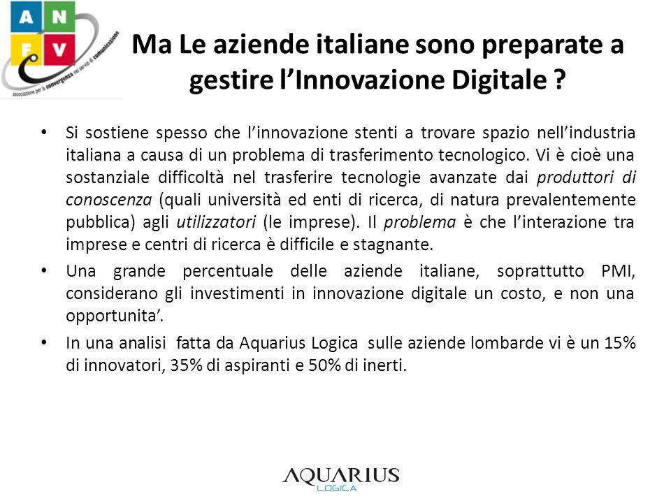Ma Le aziende italiane sono preparate a gestire lInnovazione Digitale ? Si sostiene spesso che linnovazione stenti a trovare spazio nellindustria ital