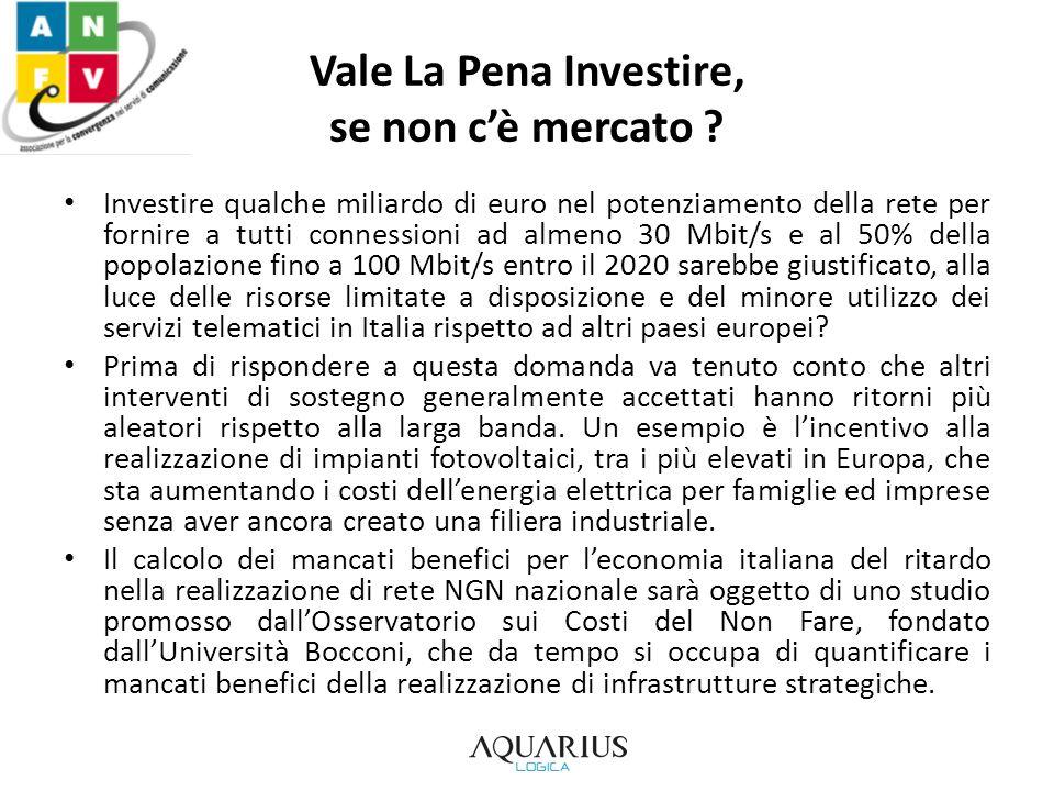 Vale La Pena Investire, se non cè mercato .