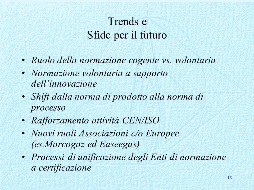 Trends e Sfide per il futuro Ruolo della normazione cogente vs.