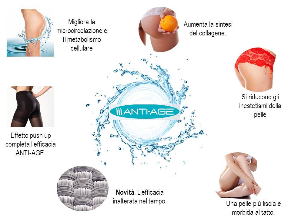 Aumenta la sintesi del collagene. Migliora la microcircolazione e Il metabolismo cellulare Si riducono gli inestetismi della pelle Una pelle più lisci