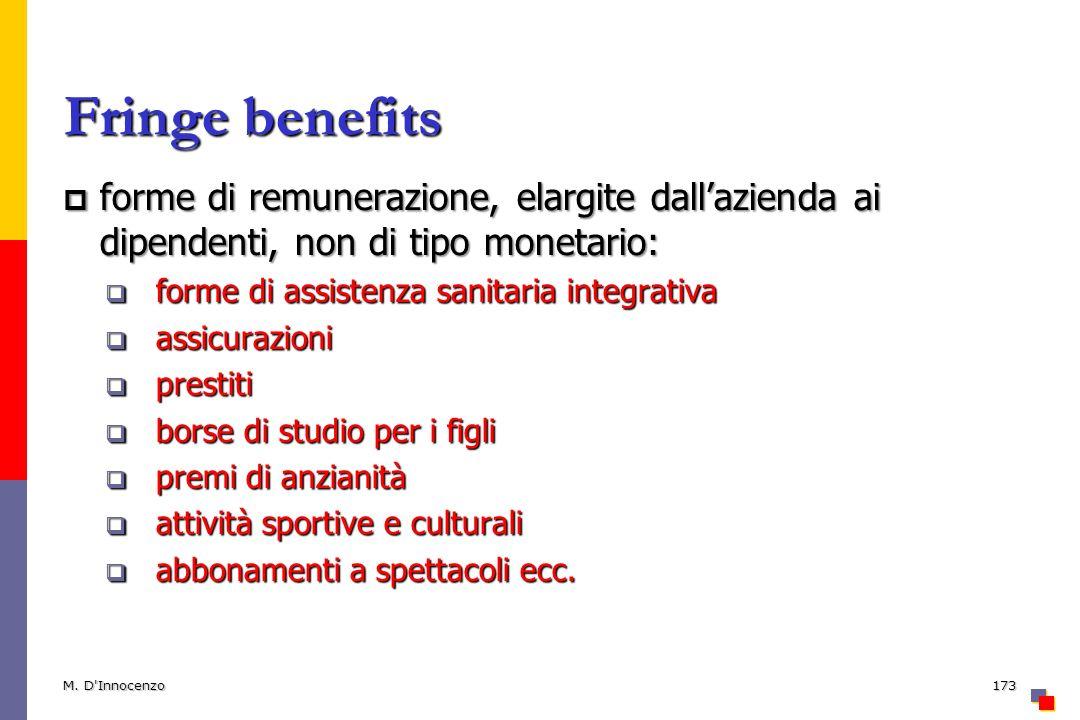 Fringe benefits forme di remunerazione, elargite dallazienda ai dipendenti, non di tipo monetario: forme di remunerazione, elargite dallazienda ai dip
