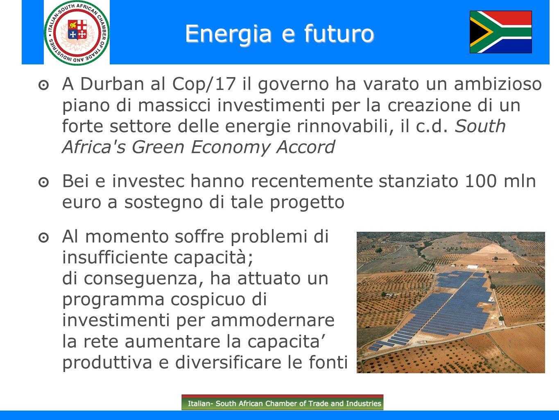 A Durban al Cop/17 il governo ha varato un ambizioso piano di massicci investimenti per la creazione di un forte settore delle energie rinnovabili, il