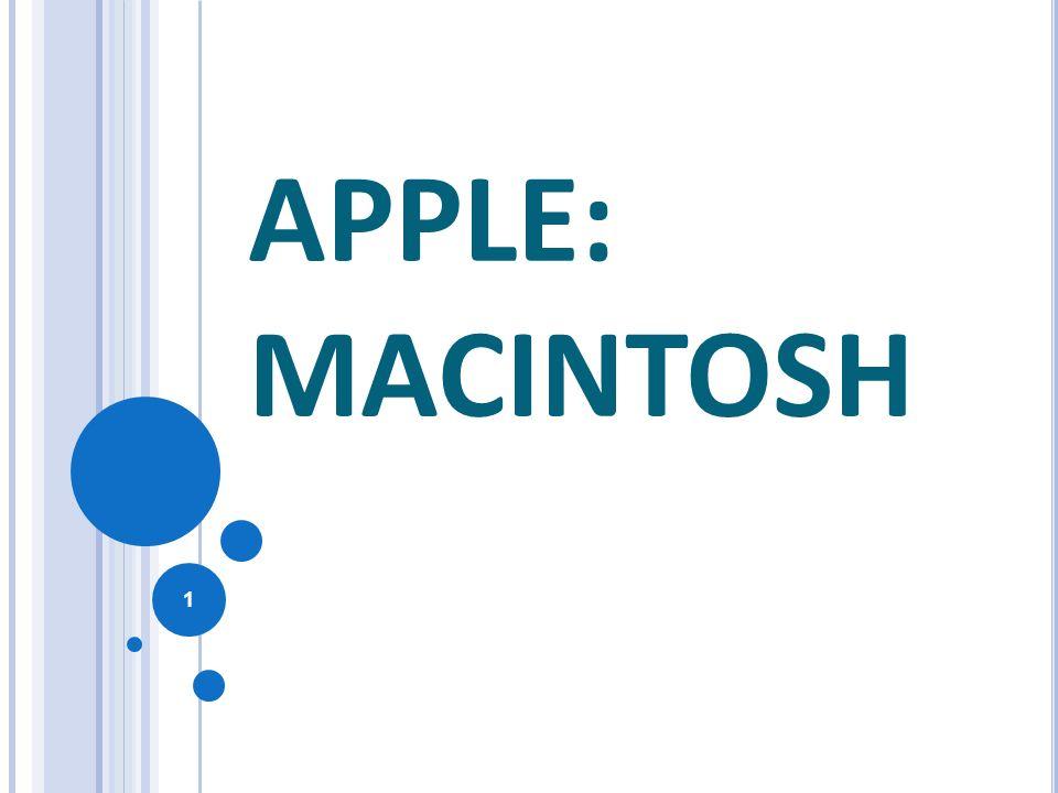 S OMMARIO Storia: Apple, Macintosh Sistema operativo: il Mac Le caratteristiche principali del Mac Le caratteristiche principali del Mac Nascita Descrizione Curiosità I modelli dal 1998 al 2006 Steve Jobs 2