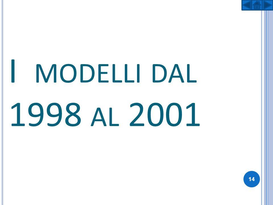 I MODELLI DAL 1998 AL 2001 14