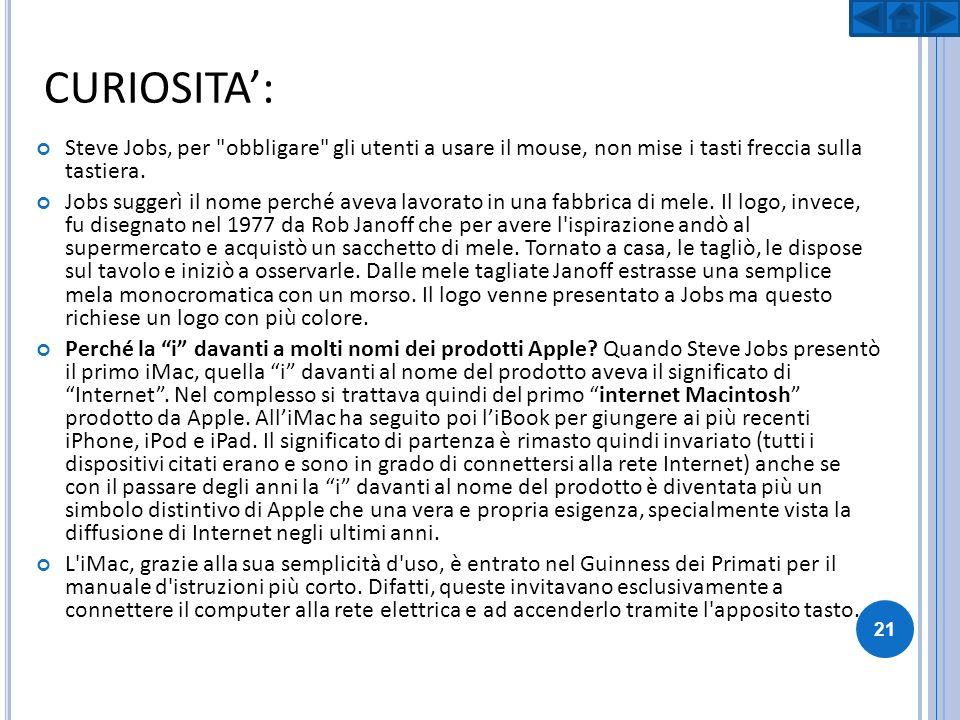 CURIOSITA: Steve Jobs, per