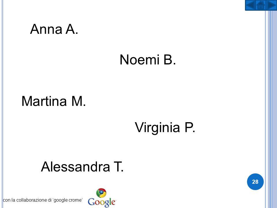 Anna A. Noemi B. Virginia P. Martina M. Alessandra T. con la collaborazione di google crome 28