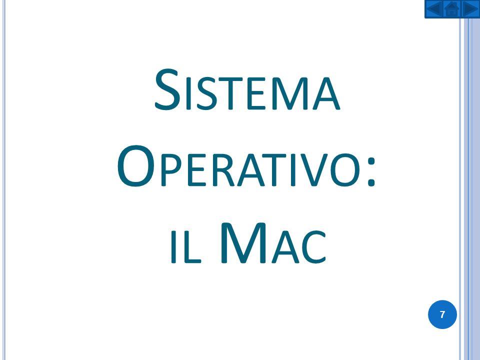 MAC OS Mac OS è il sistema operativo dedicato della Apple per i computer Macintosh a partire dal 1984.