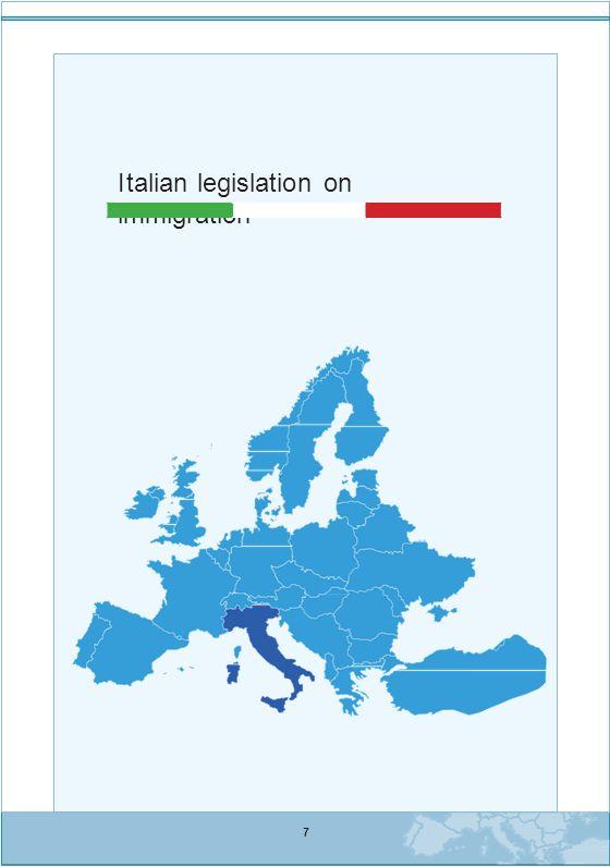 Background Per la sua posizione geografica, distesa all interno del mar Mediterra- neo, l Italia e stata meta, negli ultimi vent anni, di grandi flussi migra- tori.