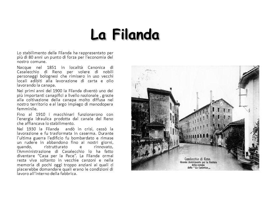 La Filanda Lo stabilimento della Filanda ha rappresentato per più di 80 anni un punto di forza per leconomia del nostro comune. Nacque nel 1851 in loc