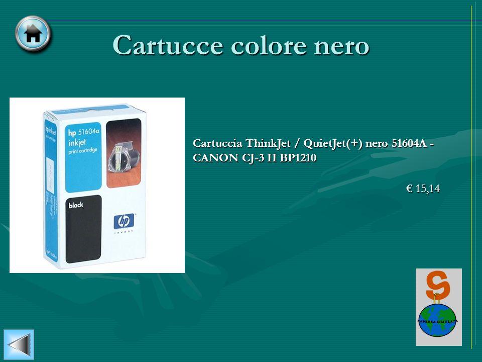 Cartucce colore nero Cartuccia ThinkJet / QuietJet(+) nero 51604A - CANON CJ-3 II BP1210 15,14 15,14