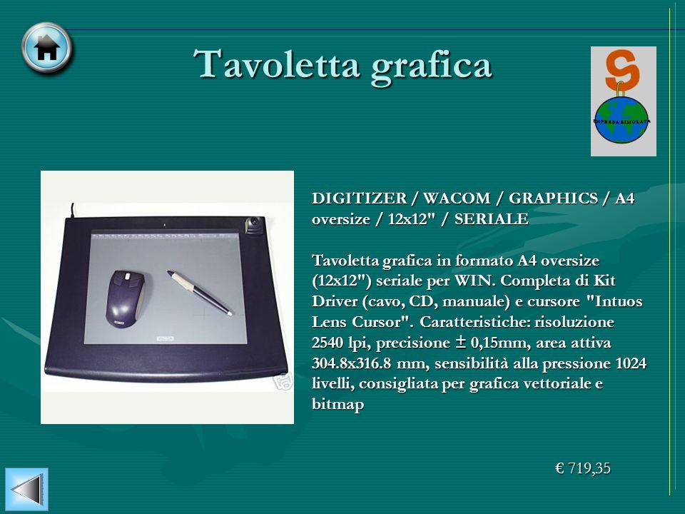 Tavoletta grafica DIGITIZER / WACOM / GRAPHICS / A4 oversize / 12x12