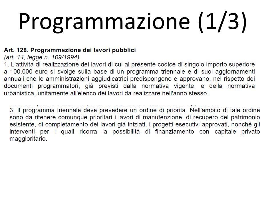 Programmazione (1/3)