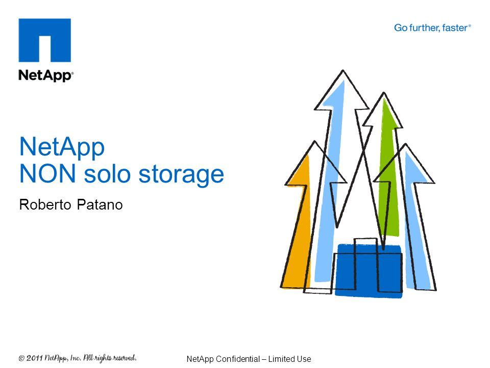 NetApp NON solo storage Roberto Patano NetApp Confidential – Limited Use