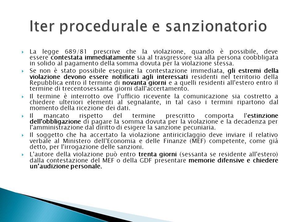 La legge 689/81 prescrive che la violazione, quando è possibile, deve essere contestata immediatamente sia al trasgressore sia alla persona coobbligat