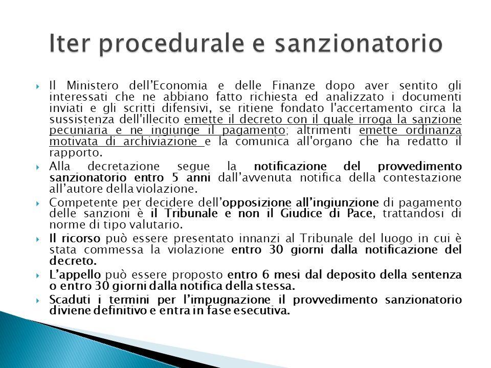 Il Ministero dellEconomia e delle Finanze dopo aver sentito gli interessati che ne abbiano fatto richiesta ed analizzato i documenti inviati e gli scr