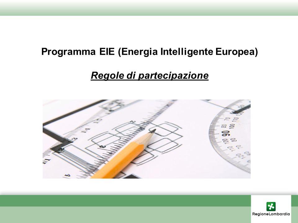 Programma EIE (Energia Intelligente Europea) Regole di partecipazione