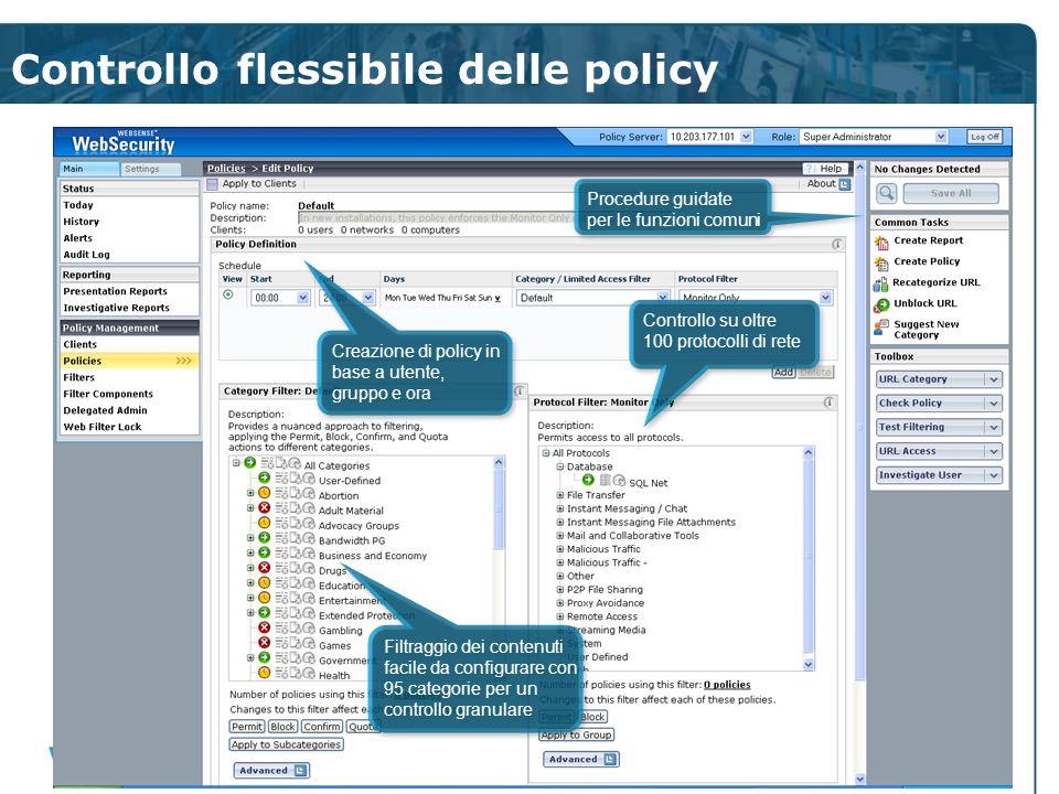 Controllo flessibile delle policy Creazione di policy in base a utente, gruppo e ora Creazione di policy in base a utente, gruppo e ora Procedure guid