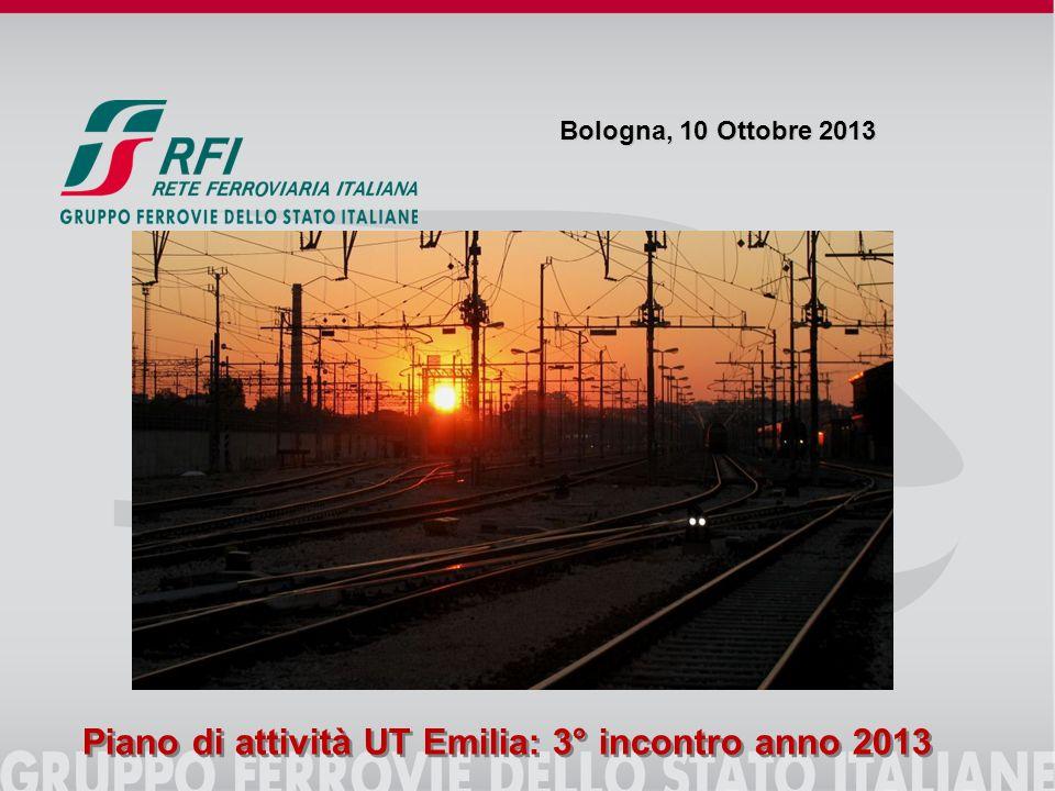 Bologna, 10 Ottobre 2013 Piano di attività UT Emilia: 3° incontro anno 2013