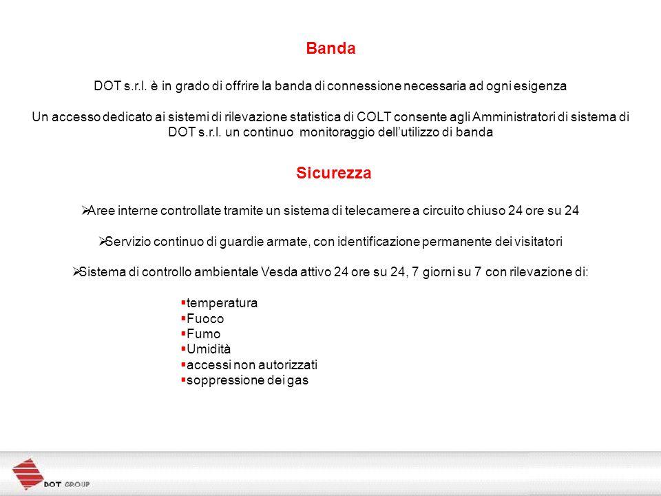 Banda DOT s.r.l. è in grado di offrire la banda di connessione necessaria ad ogni esigenza Un accesso dedicato ai sistemi di rilevazione statistica di