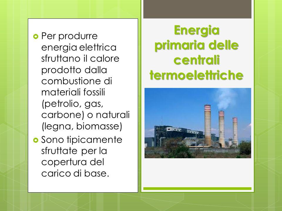 Per produrre energia elettrica sfruttano il calore prodotto dalla combustione di materiali fossili (petrolio, gas, carbone) o naturali (legna, biomass