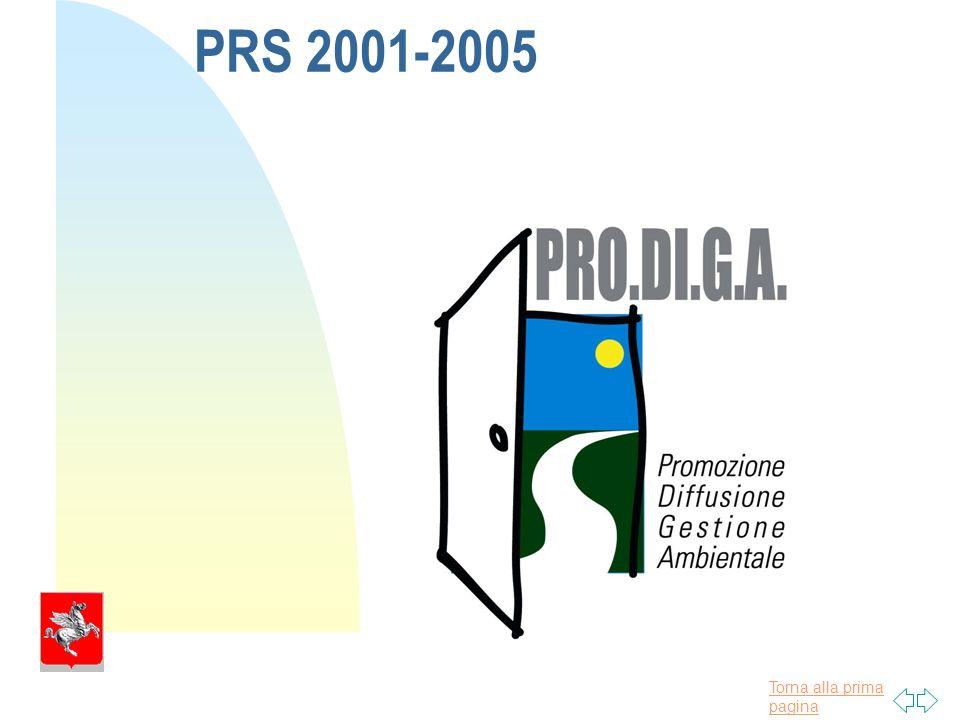 Torna alla prima pagina PRS 2001-2005