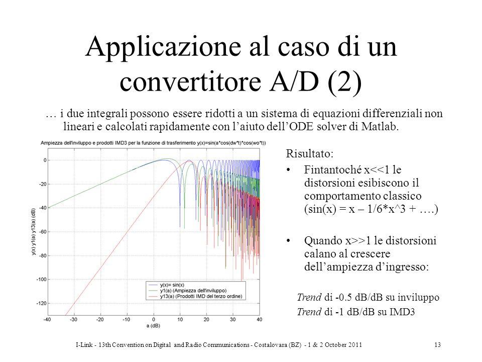 I-Link - 13th Convention on Digital and Radio Communications - Costalovara (BZ) - 1 & 2 October 201113 Applicazione al caso di un convertitore A/D (2)
