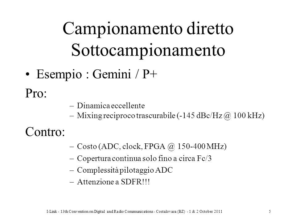 I-Link - 13th Convention on Digital and Radio Communications - Costalovara (BZ) - 1 & 2 October 20115 Campionamento diretto Sottocampionamento Esempio
