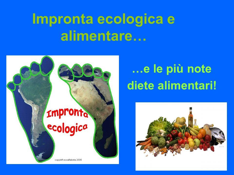 Impronta ecologica e alimentare… …e le più note diete alimentari!