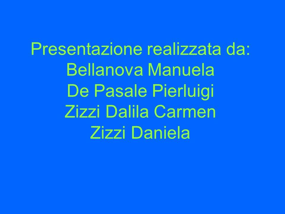 Presentazione realizzata da: Bellanova Manuela De Pasale Pierluigi Zizzi Dalila Carmen Zizzi Daniela