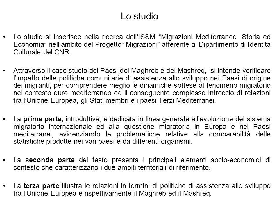 Lo studio Lo studio si inserisce nella ricerca dellISSM Migrazioni Mediterranee. Storia ed Economia nellambito del Progetto Migrazioni afferente al Di