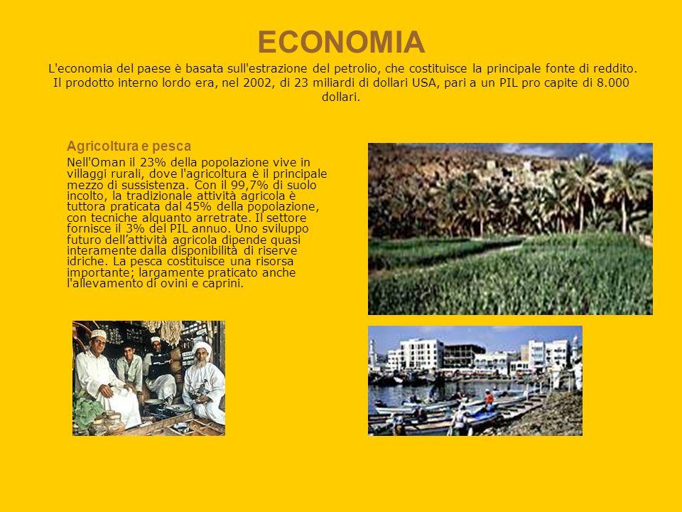 ECONOMIA L'economia del paese è basata sull'estrazione del petrolio, che costituisce la principale fonte di reddito. Il prodotto interno lordo era, ne