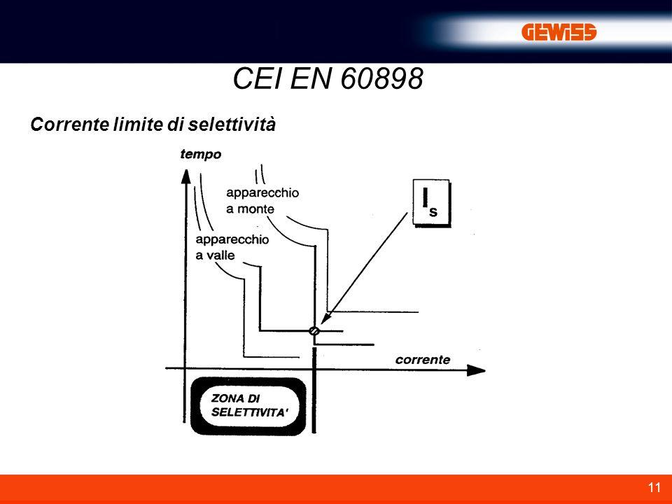 11 Corrente limite di selettività CEI EN 60898