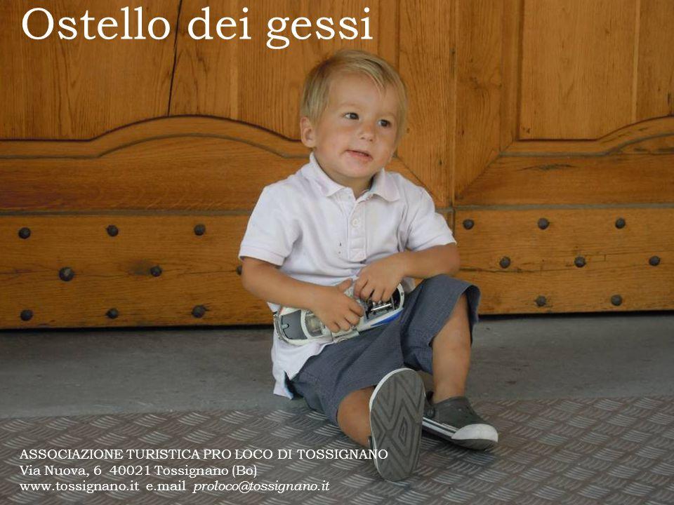 Ostello dei gessi ASSOCIAZIONE TURISTICA PRO LOCO DI TOSSIGNANO Via Nuova, 6 40021 Tossignano (Bo) www.tossignano.it e.mail proloco@tossignano.it